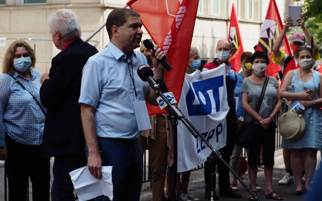 Demonstrowaliśmy pod Ministerstwem Aktywów Państwowych